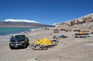 Laguna Verde camp