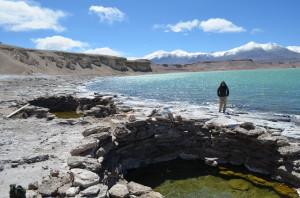 Hot spring in Laguna Verde