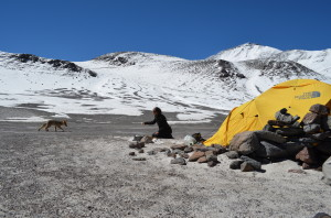 Ojos del salado base camp